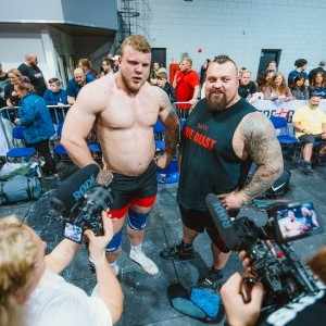 Tom Stoltman and Eddie Hall
